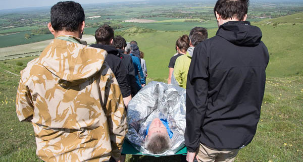 London to Cape town first aid course stretcher south downs wilderness