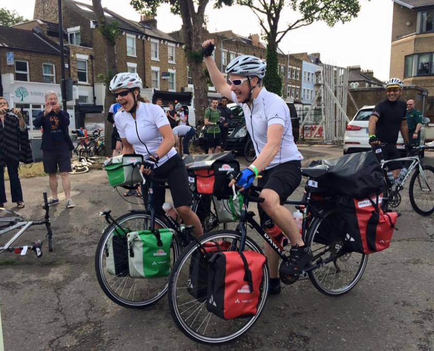 James and Emily set off to cycle from London to Cape Town