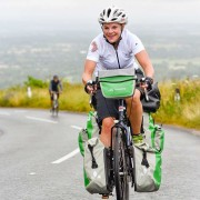 Emily cycling Ditchling Beacon