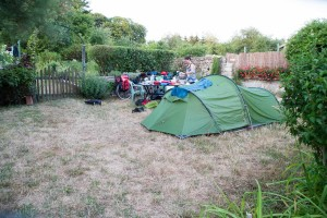 Camping in Marylène's garden