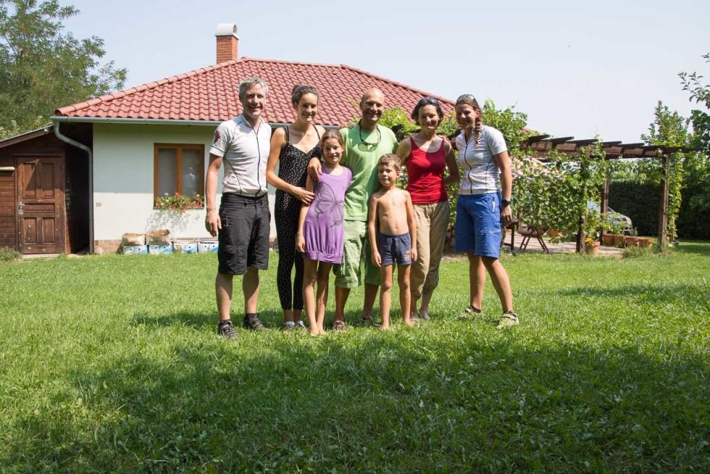Meeting Peter and family near Tahitótfalu, Hungary