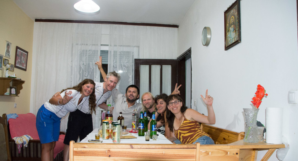 Staying with Zoran and his guests in Backa Palanka, Serbia