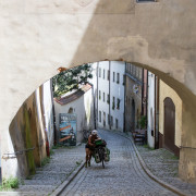 Passau cobbled street