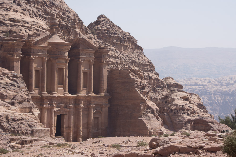 The Monastery op top of the hilltops in Petra