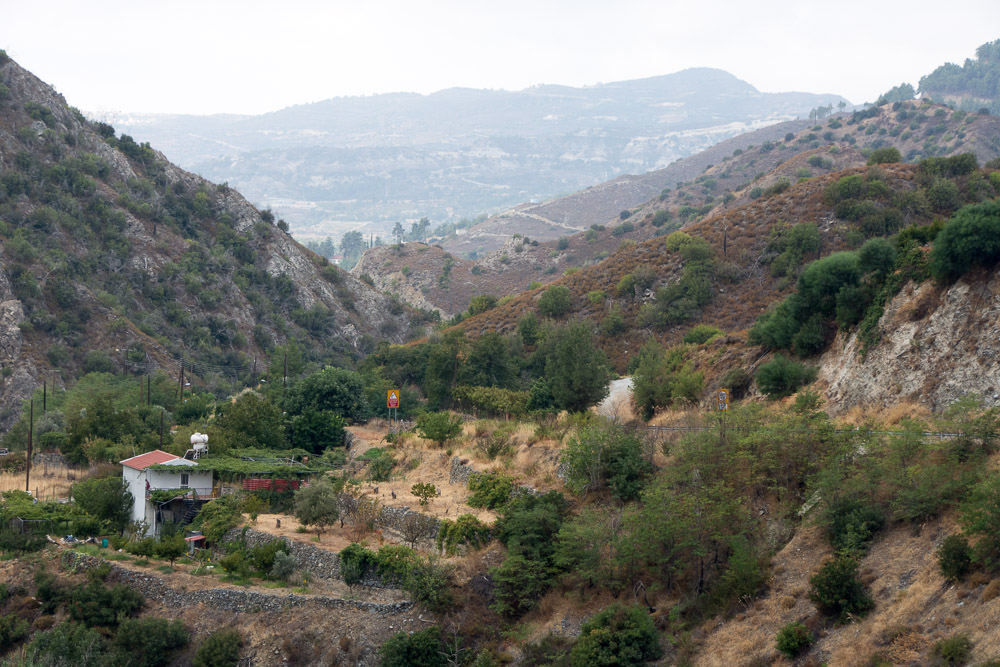 Looking back at the Troodos Mountains as we approached the southern coast of Cyprus.
