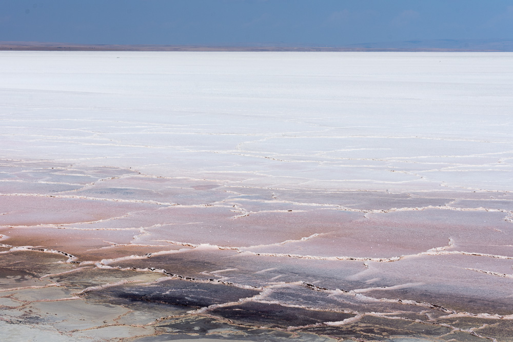 Tuz Gölü salt lake went on for miles - and was being used as target practice for Turkish soldiers