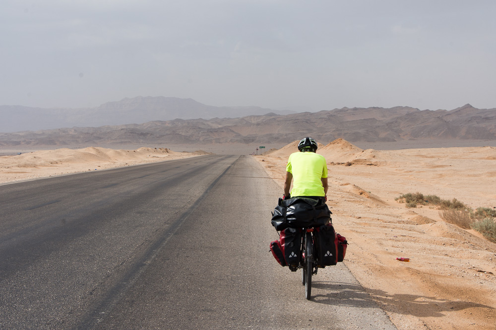 Cycling the Red Sea coast. More barren than expected!