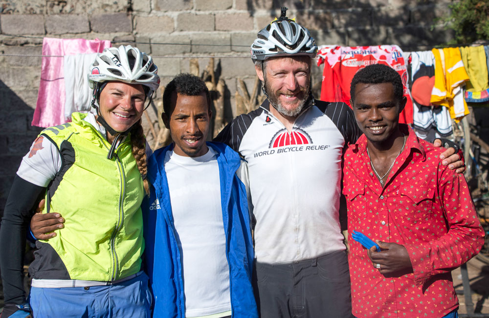 Thanks to Molla and friends at the Amhara Regional Cycling Team for getting us back on the road