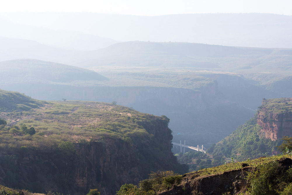 Blue Nile Gorge bridge. Guards prohibit photos any nearer.