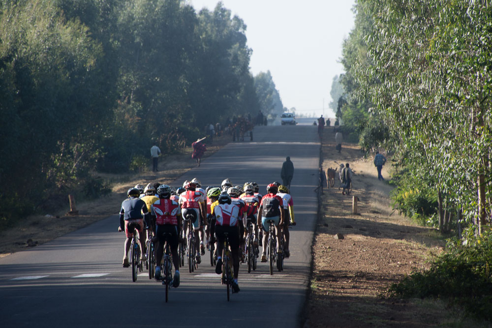 The Amhara Region Cycling Team whizz by