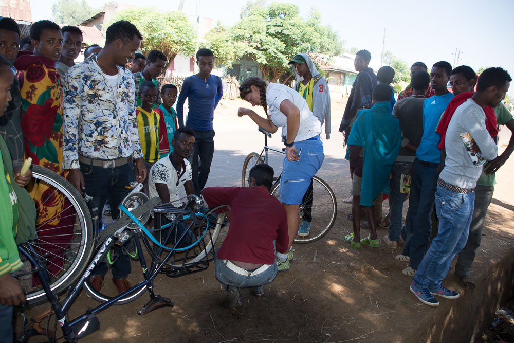 A broken spoke becomes the most exciting thing ever to happen in this village