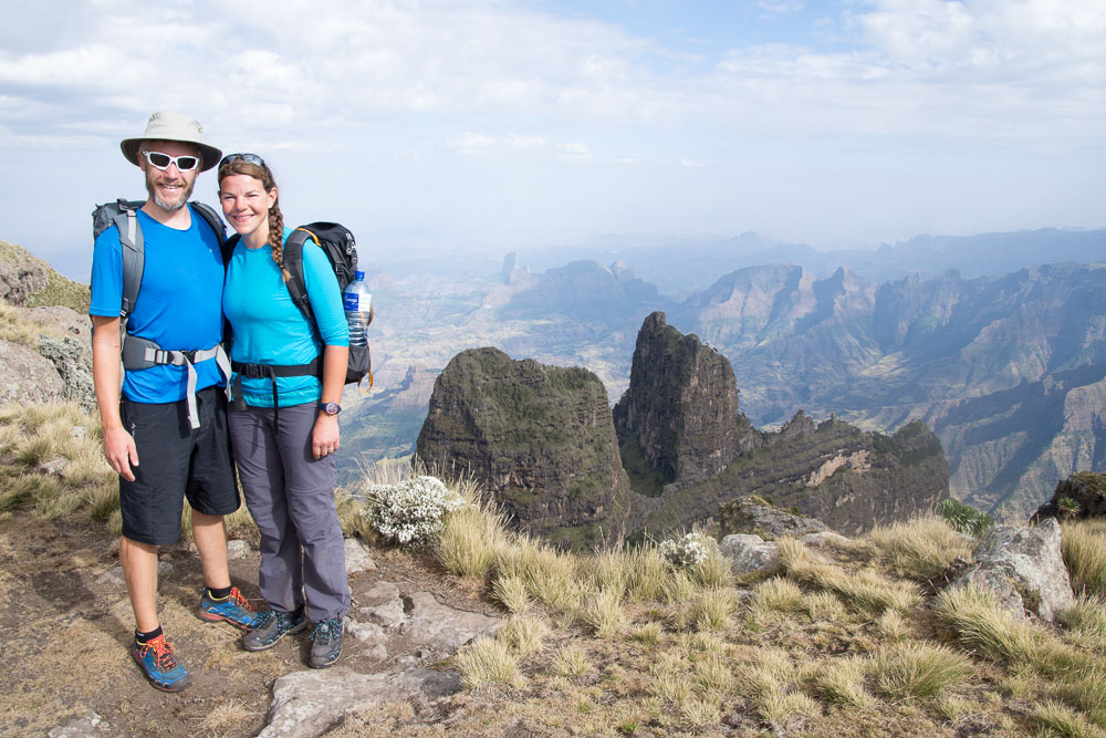 The Simien mountain views were stunning