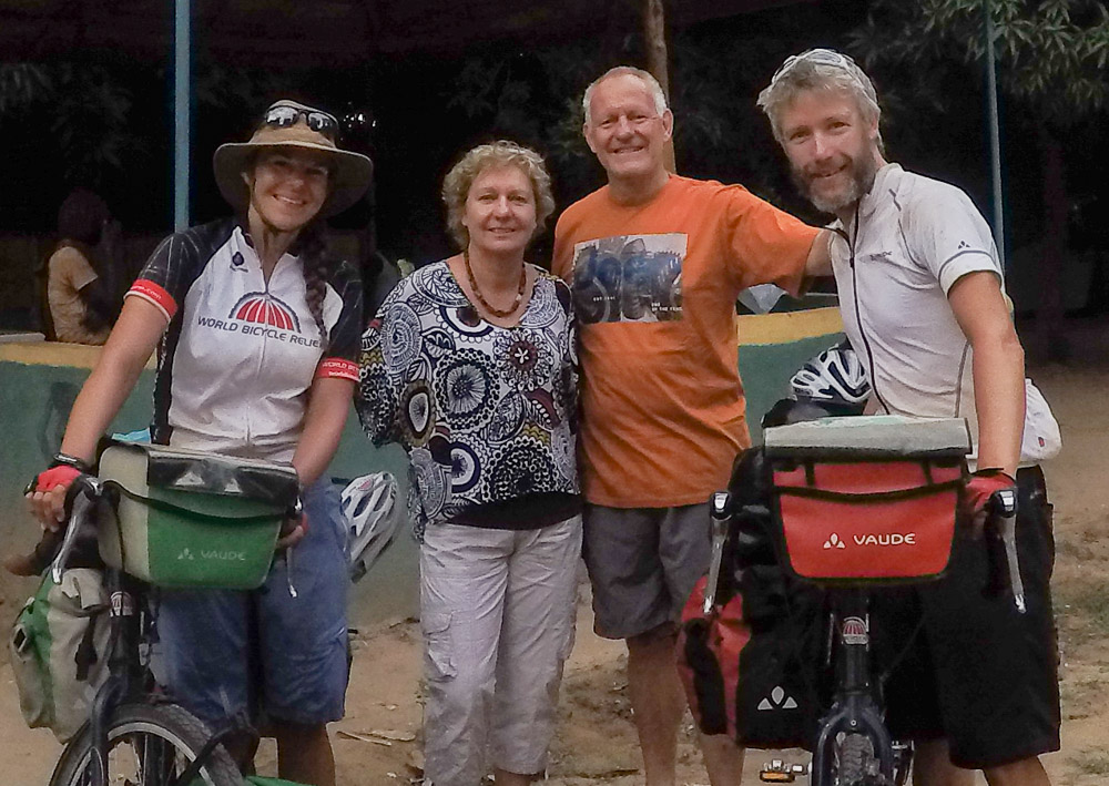It was great to meet Tom and Eva who are travelling Africa in their huge Unimog 4X4.