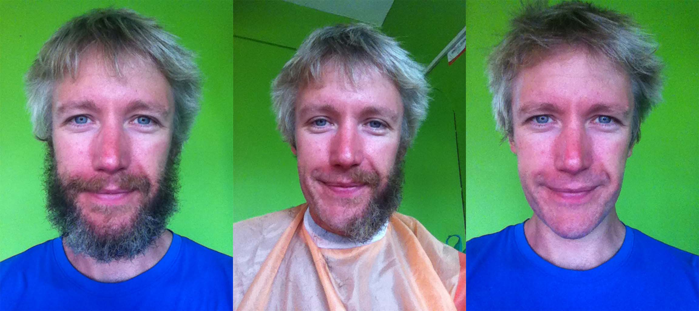 The Cairo to Cape Town adventurer's beard is no longer!