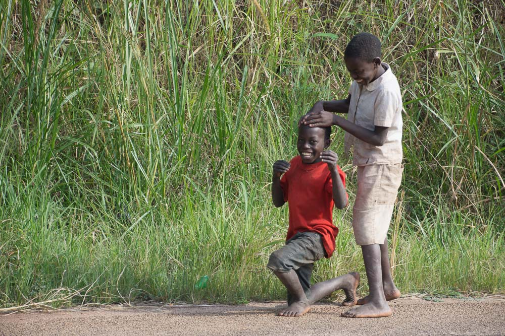"Friendly kids in Uganda. ""Goodbye Muzungu!"""