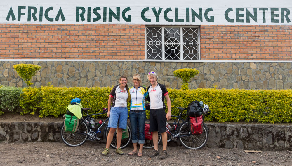 Meeting Kimberly Coates at the Africa Rising Cycling Center, Musanze.