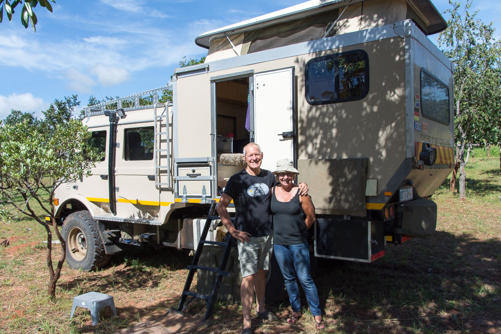 We were delighted to meet up again with Tom and Eva but sad to hear that they were having problems with their Unimog