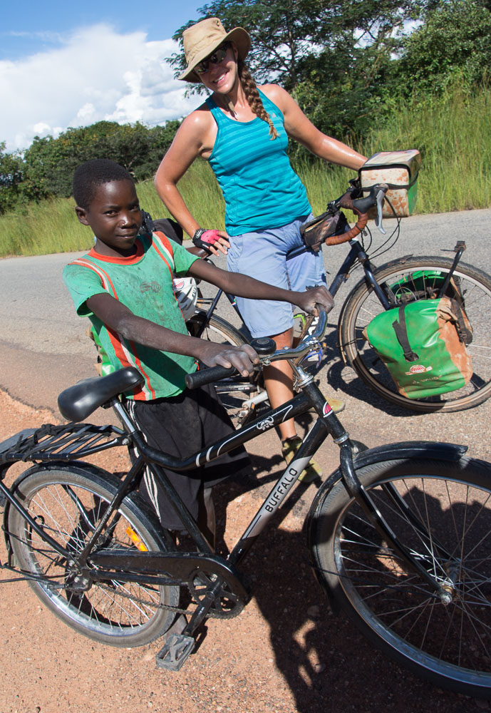 We've seen many of World Bicycle Relief's Buffalo bikes on the streets of Zambia; helping kids like this get to school!
