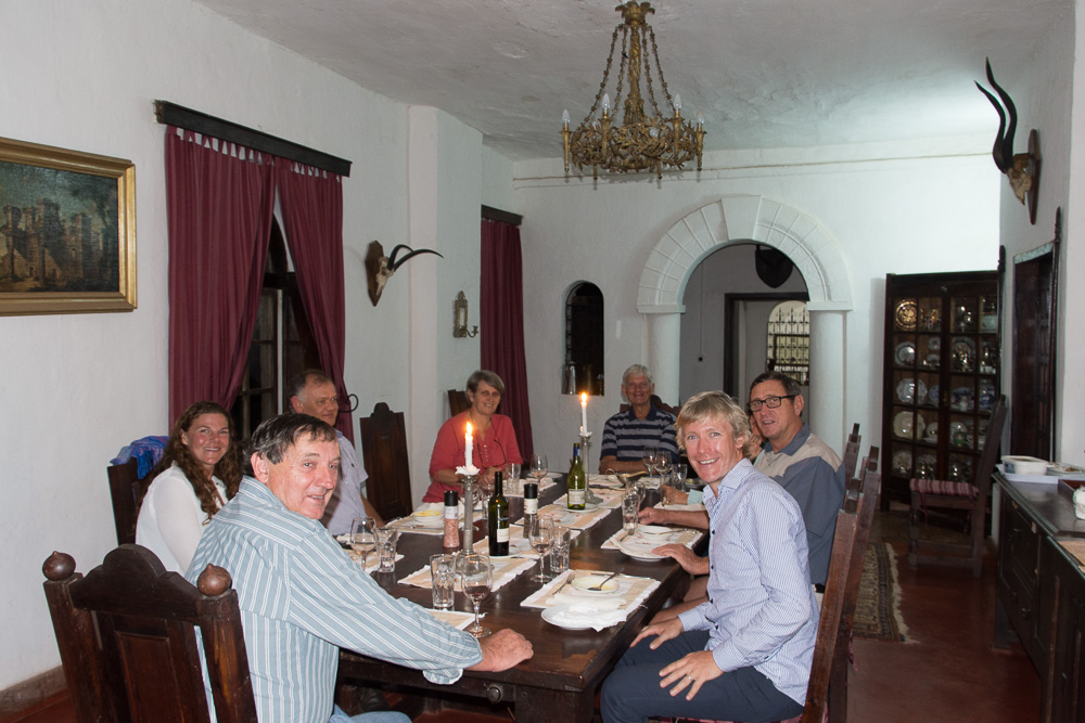 Dining with he Harveys in the main dining room at Shiwa