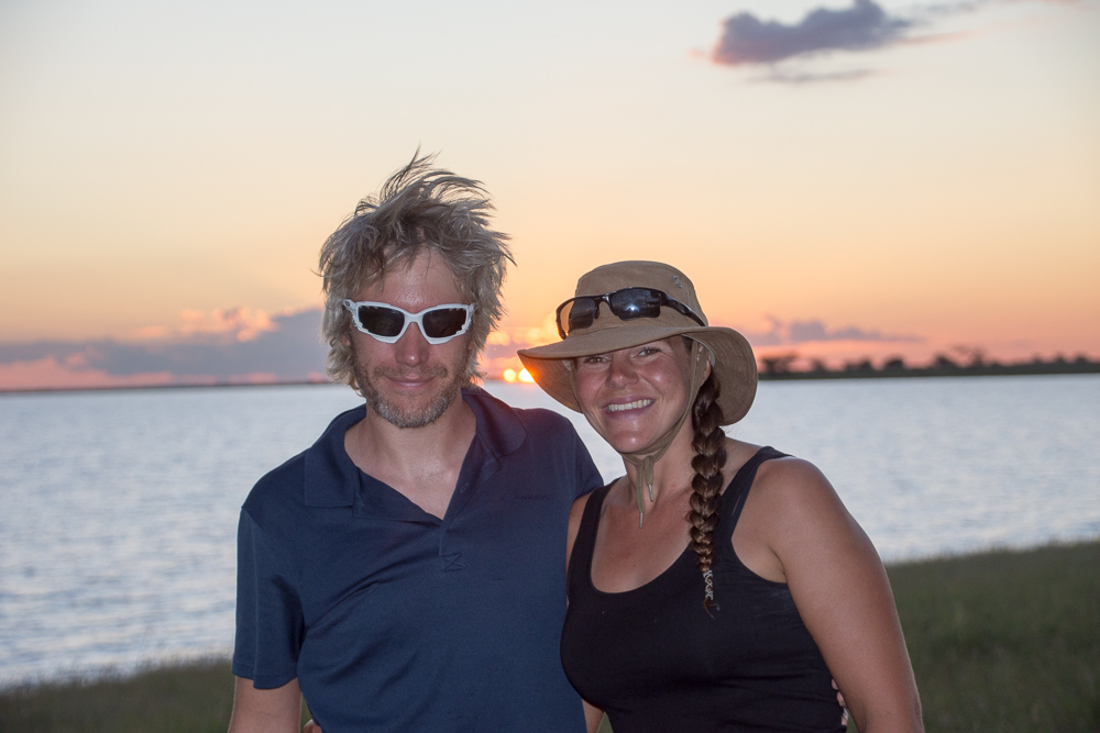 The adventurers at the Makgadikgadi Pan