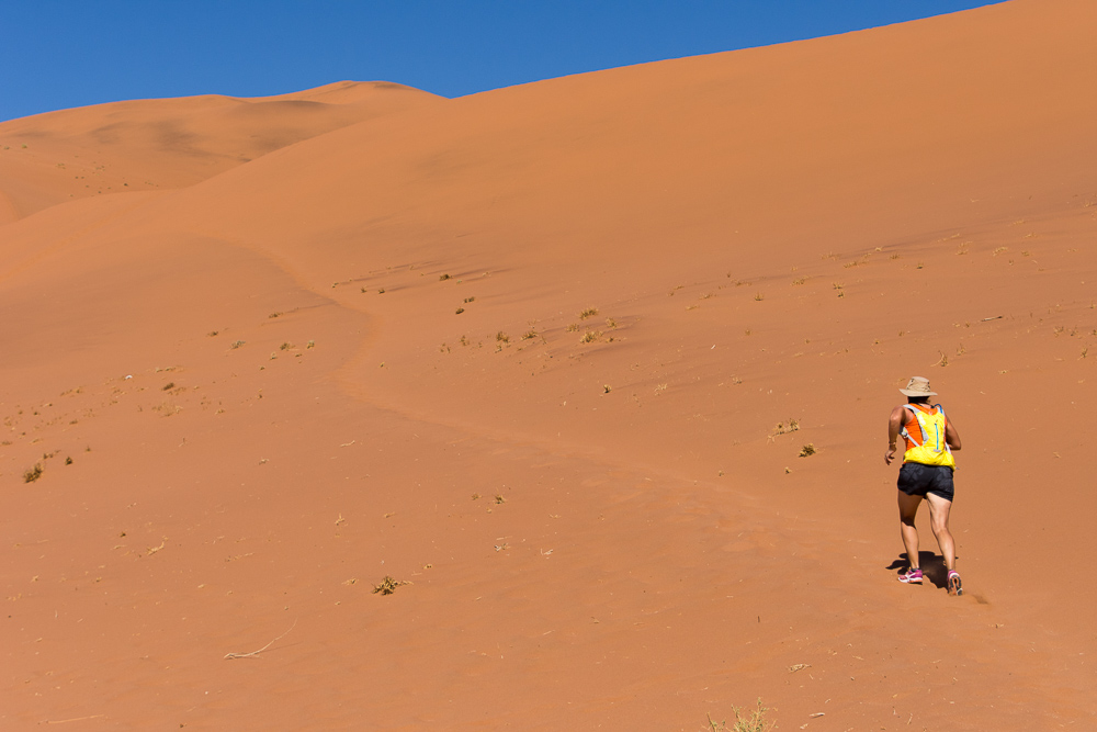 Emily takes to dune running