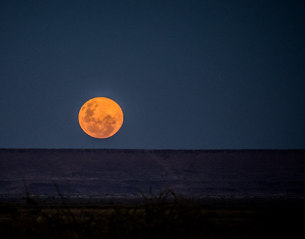 And we've been lucky enough to see some spectacular moonrises!