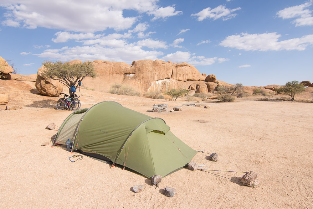 Not a bad place to camp: Spitzkoppe