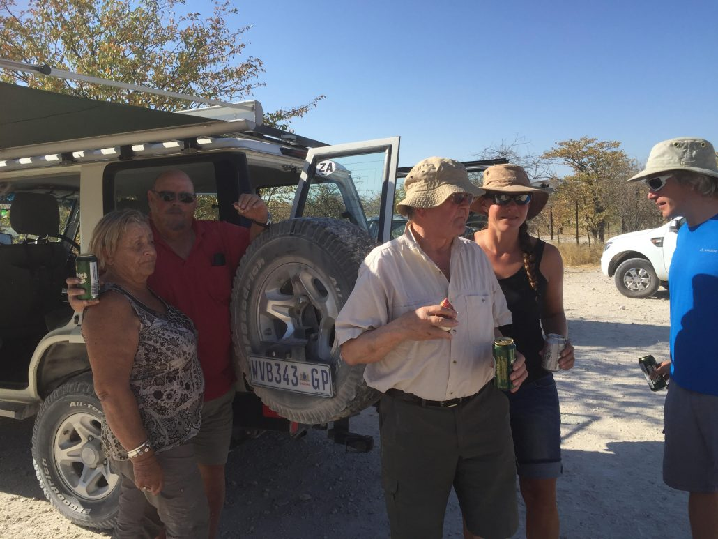 Lunch stop in Etosha with Emily's family